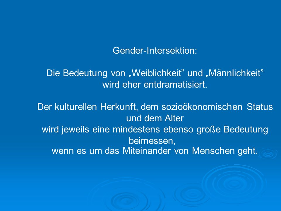 Gender-Intersektion: