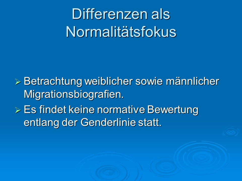 Differenzen als Normalitätsfokus