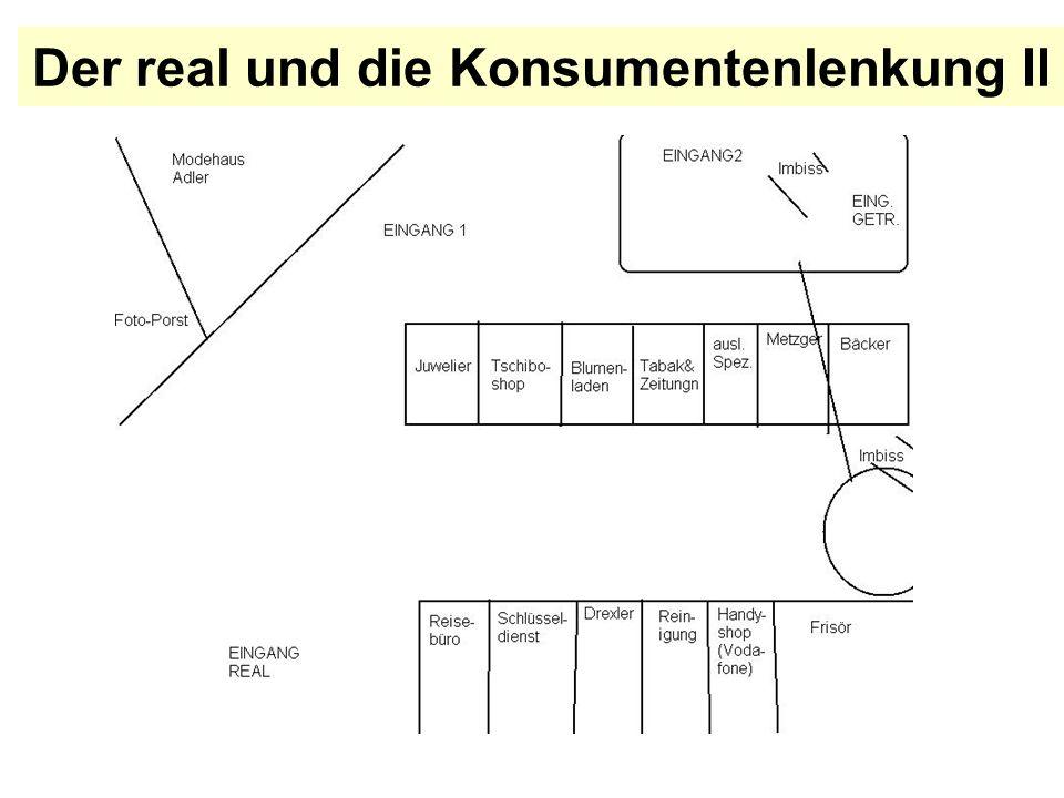 Der real und die Konsumentenlenkung II
