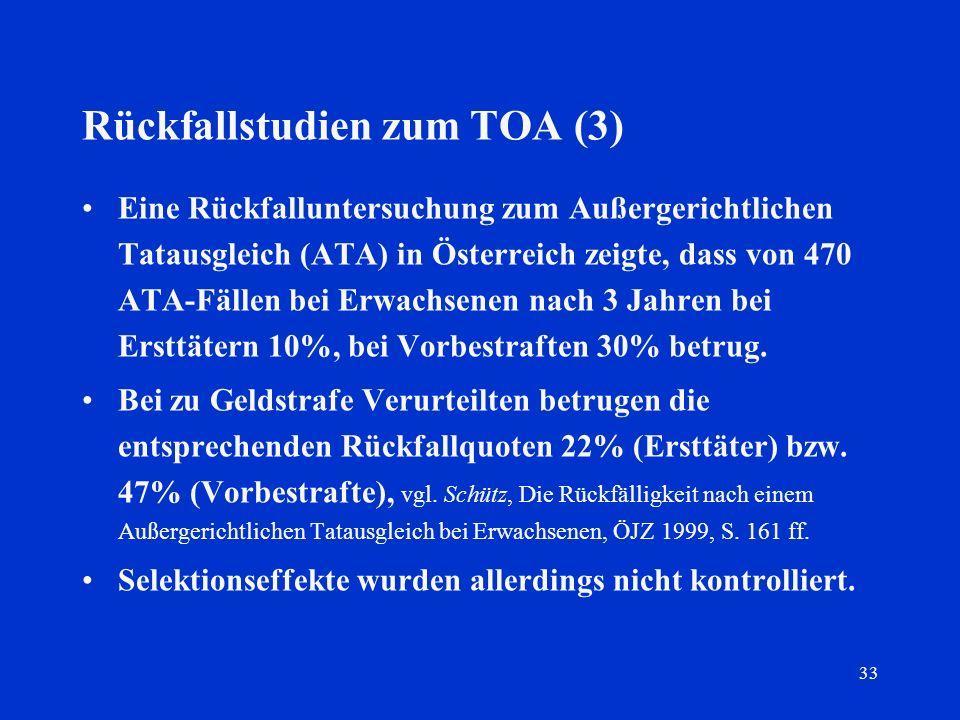 Rückfallstudien zum TOA (3)