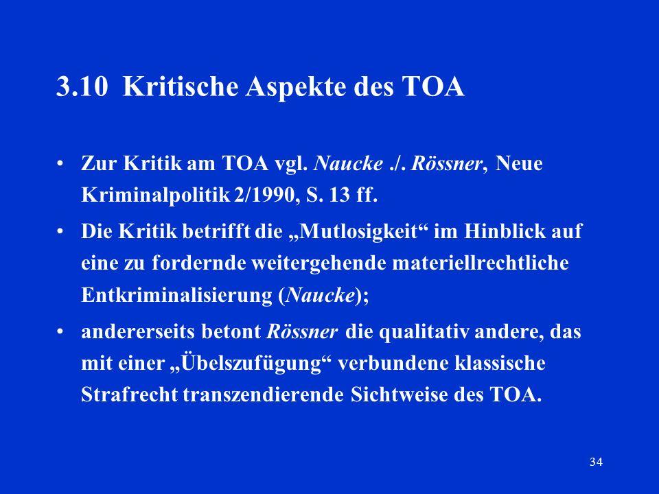 3.10 Kritische Aspekte des TOA