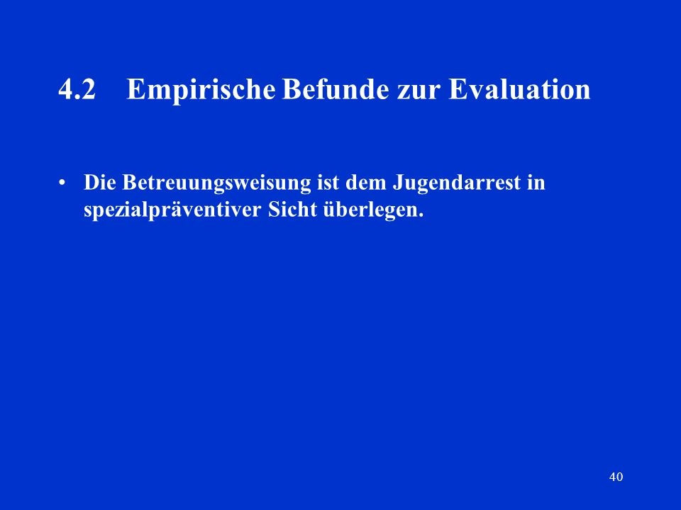 4.2 Empirische Befunde zur Evaluation