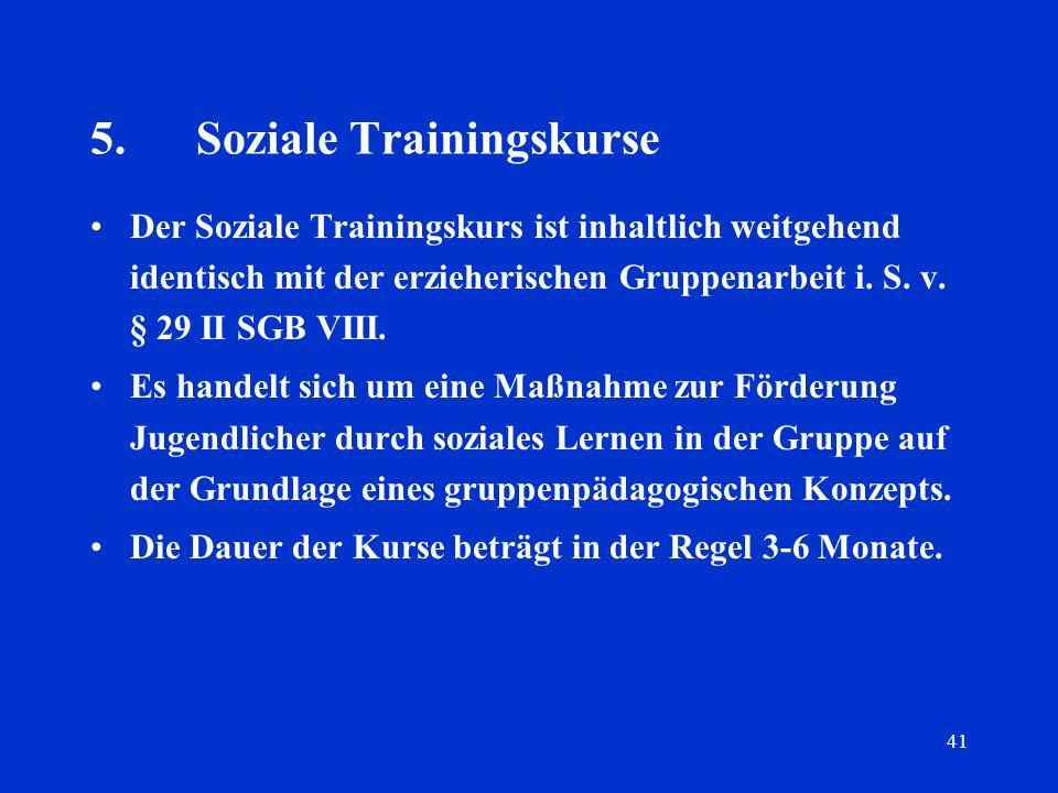 5. Soziale Trainingskurse