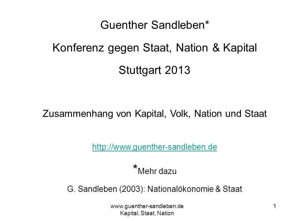 *Mehr dazu Guenther Sandleben* Konferenz gegen Staat, Nation & Kapital