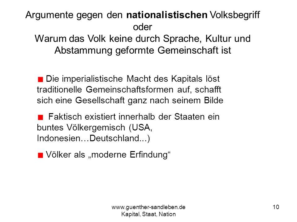 Argumente gegen den nationalistischen Volksbegriff oder