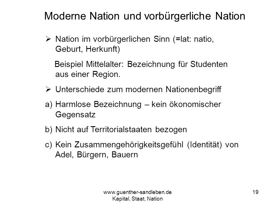 Moderne Nation und vorbürgerliche Nation