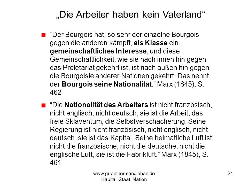 """""""Die Arbeiter haben kein Vaterland"""