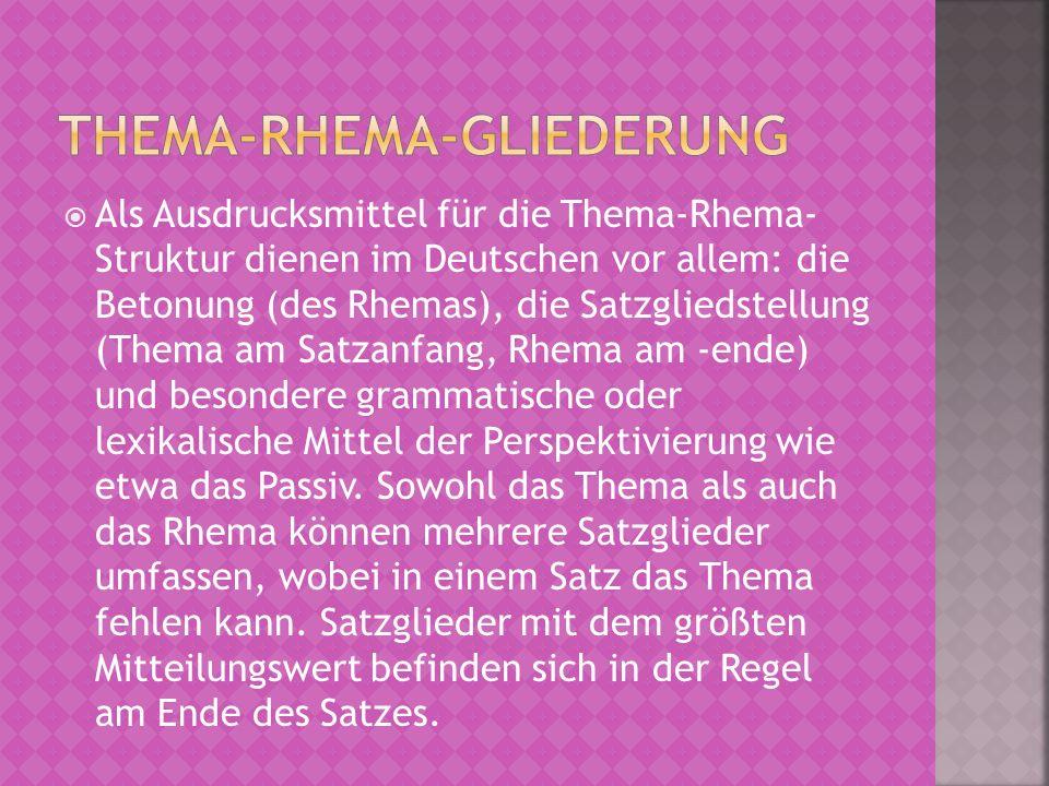 Thema-Rhema-Gliederung