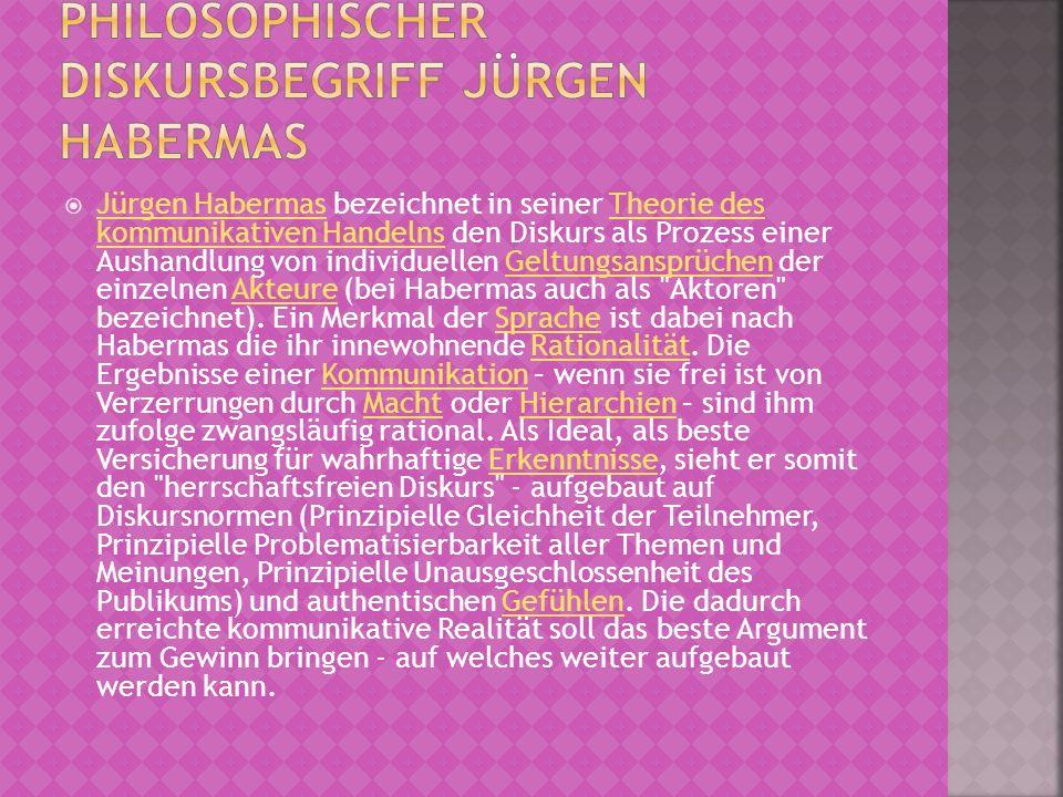 Philosophischer Diskursbegriff Jürgen Habermas