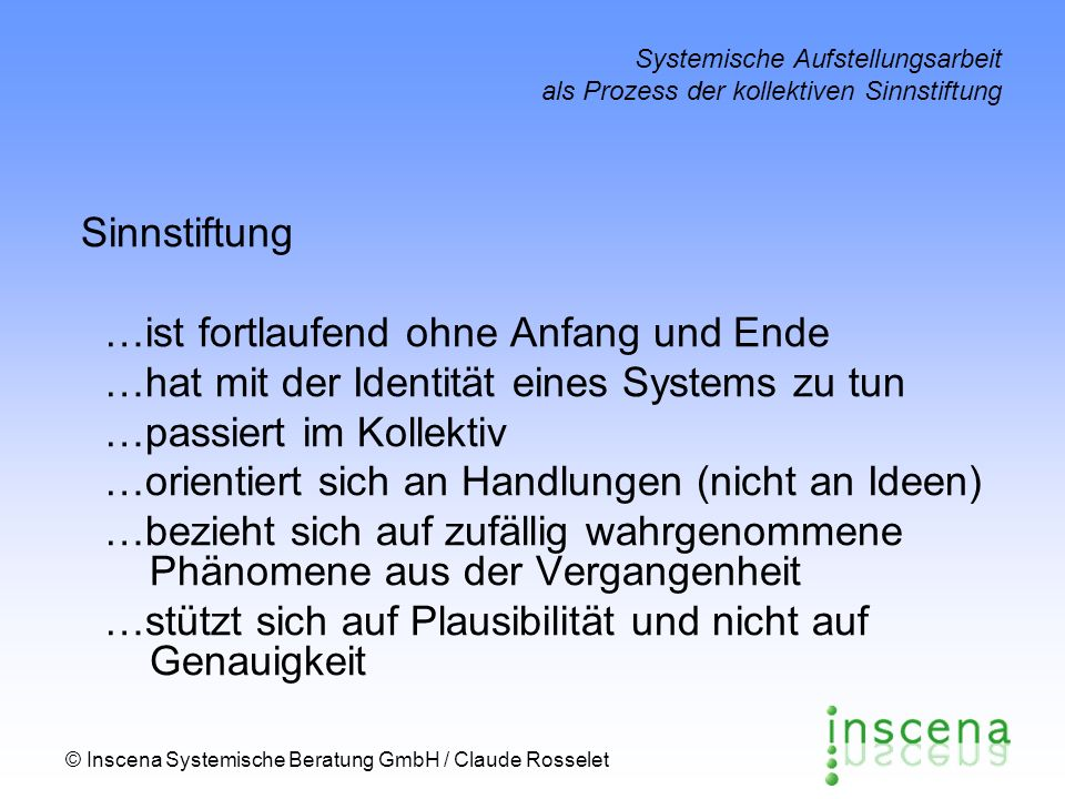 …ist fortlaufend ohne Anfang und Ende