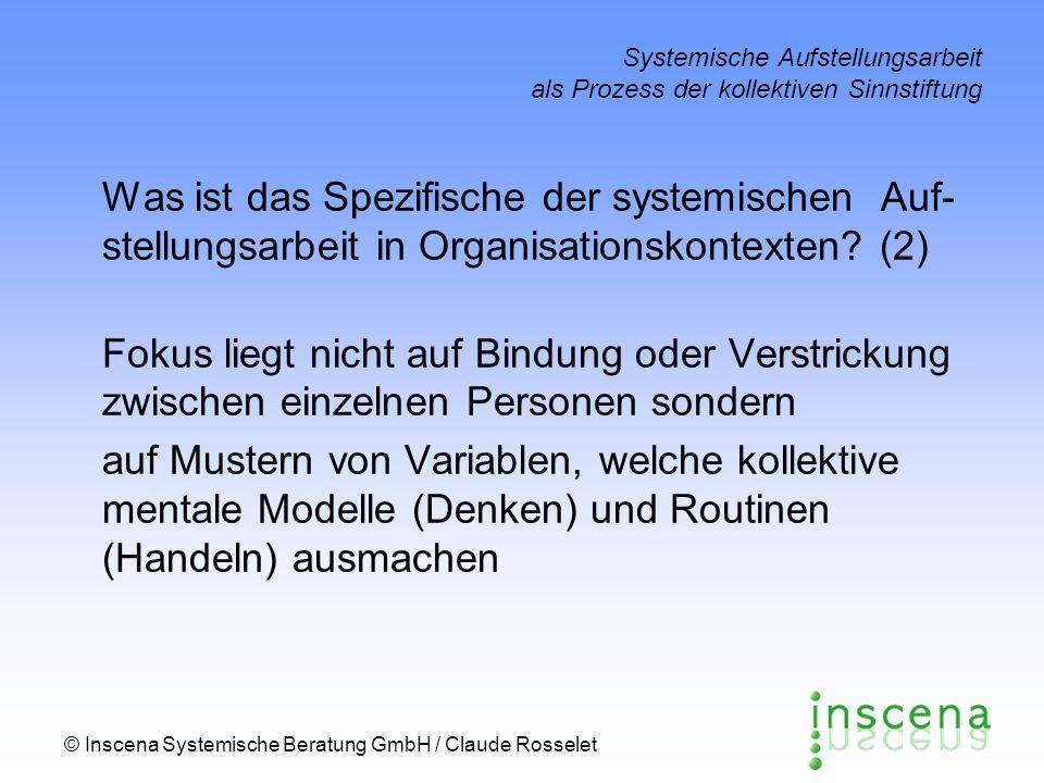 Systemische Aufstellungsarbeit als Prozess der kollektiven Sinnstiftung