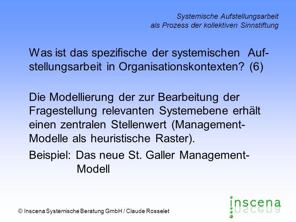 Beispiel: Das neue St. Galler Management- Modell