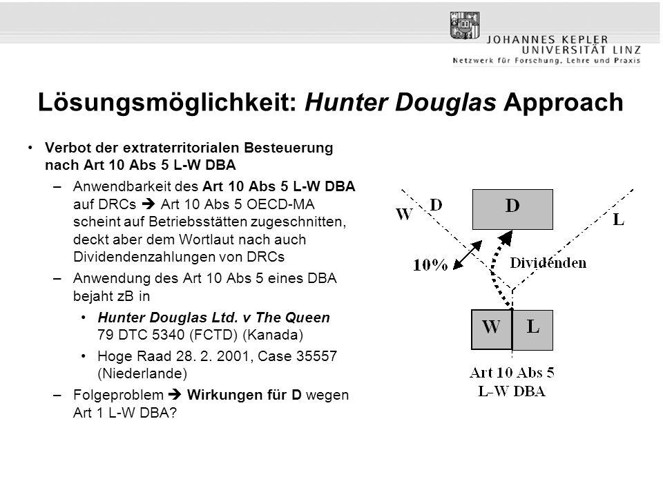 Lösungsmöglichkeit: Hunter Douglas Approach