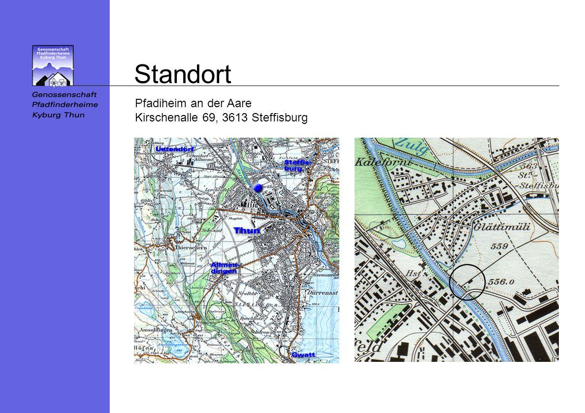 Standort Pfadiheim an der Aare Kirschenalle 69, 3613 Steffisburg