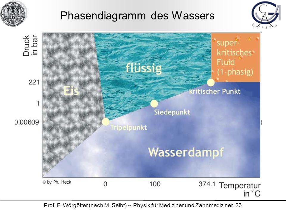 Phasendiagramm des Wassers
