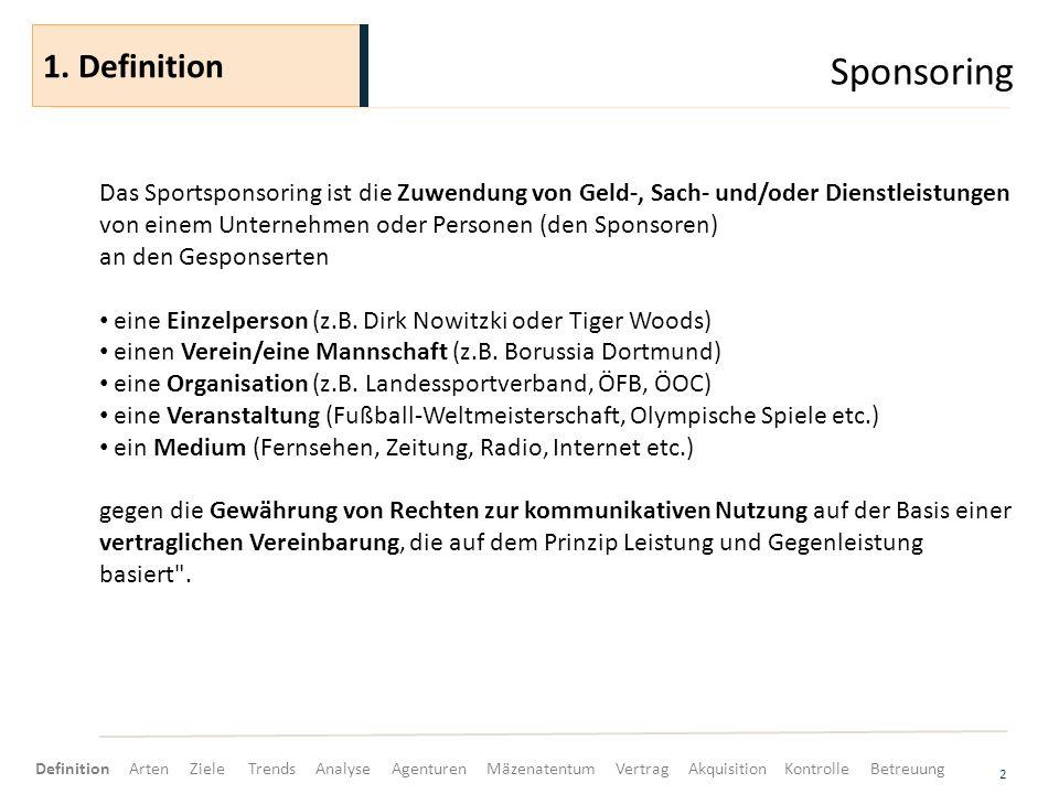 Sponsoring 1. Definition