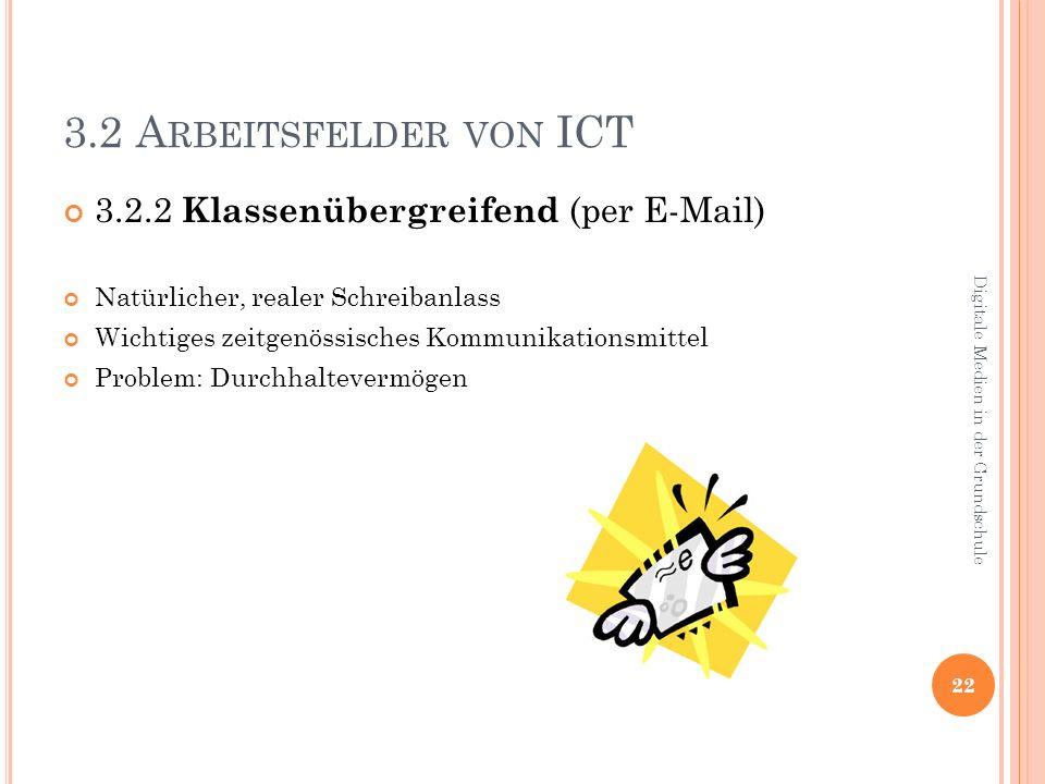 3.2 Arbeitsfelder von ICT 3.2.2 Klassenübergreifend (per E-Mail)