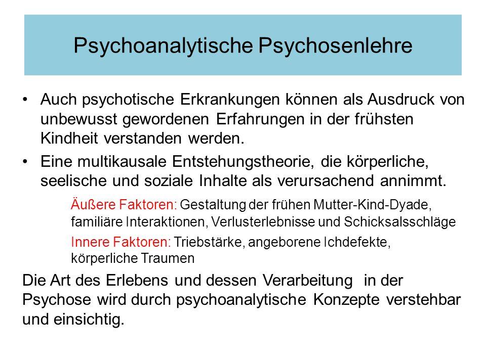 Psychoanalytische Psychosenlehre
