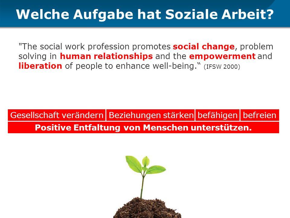 Welche Aufgabe hat Soziale Arbeit