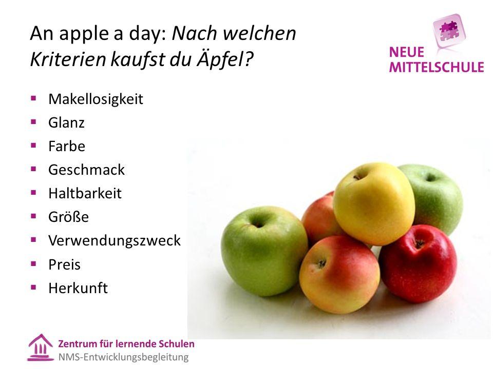 An apple a day: Nach welchen Kriterien kaufst du Äpfel