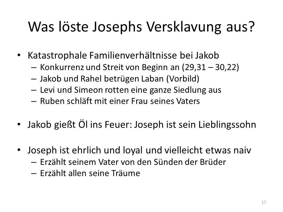 Was löste Josephs Versklavung aus