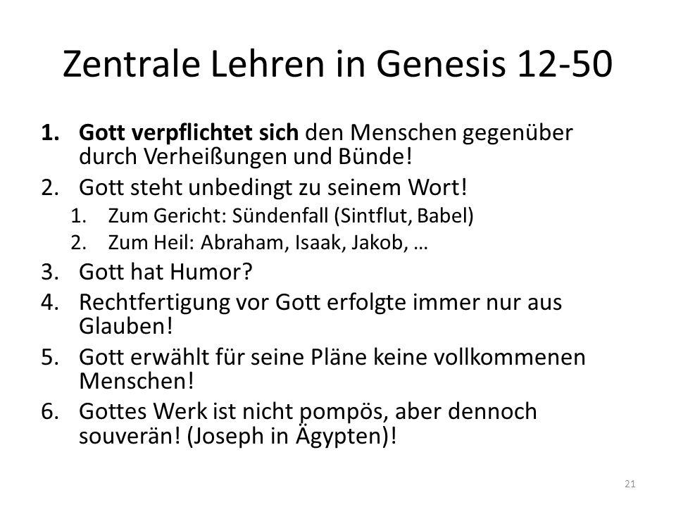 Zentrale Lehren in Genesis 12-50