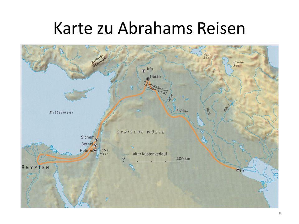 Karte zu Abrahams Reisen