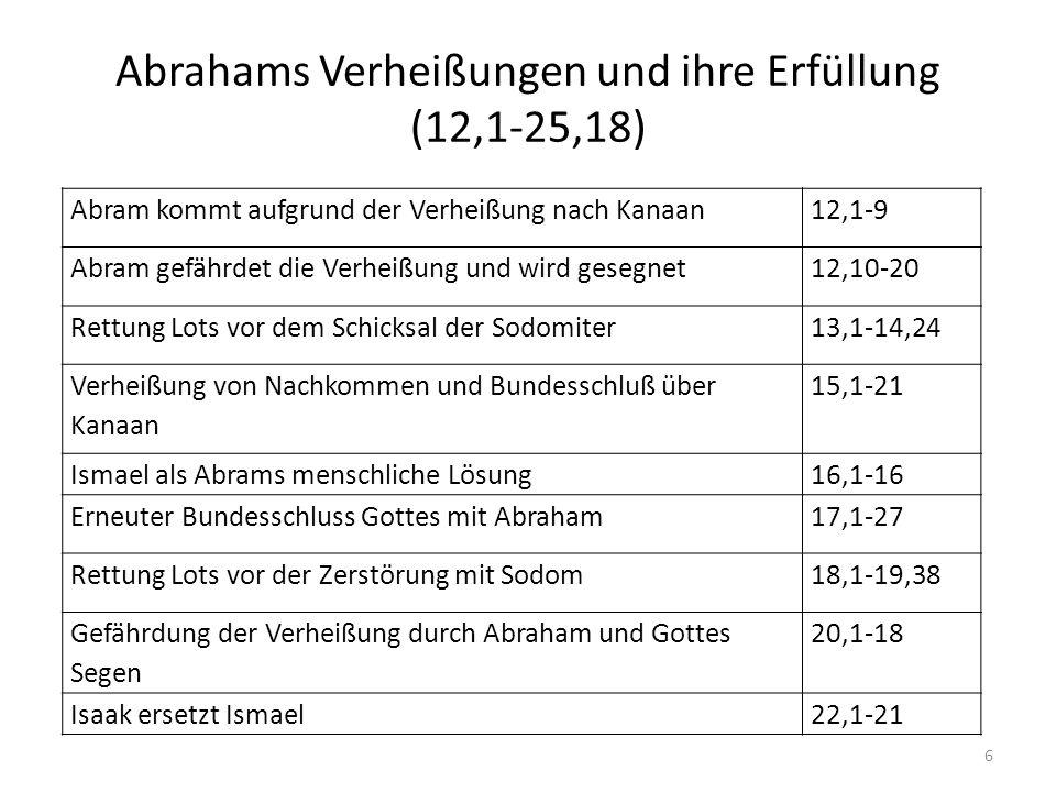 Abrahams Verheißungen und ihre Erfüllung (12,1-25,18)