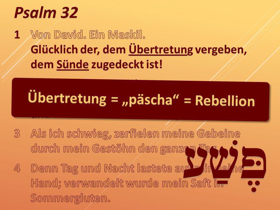 """Übertretung = """"päscha = Rebellion"""