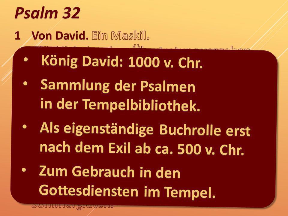 Sammlung der Psalmen in der Tempelbibliothek.