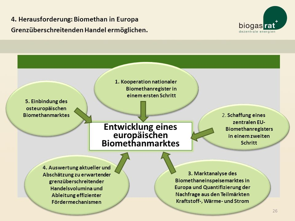Entwicklung eines europäischen Biomethanmarktes