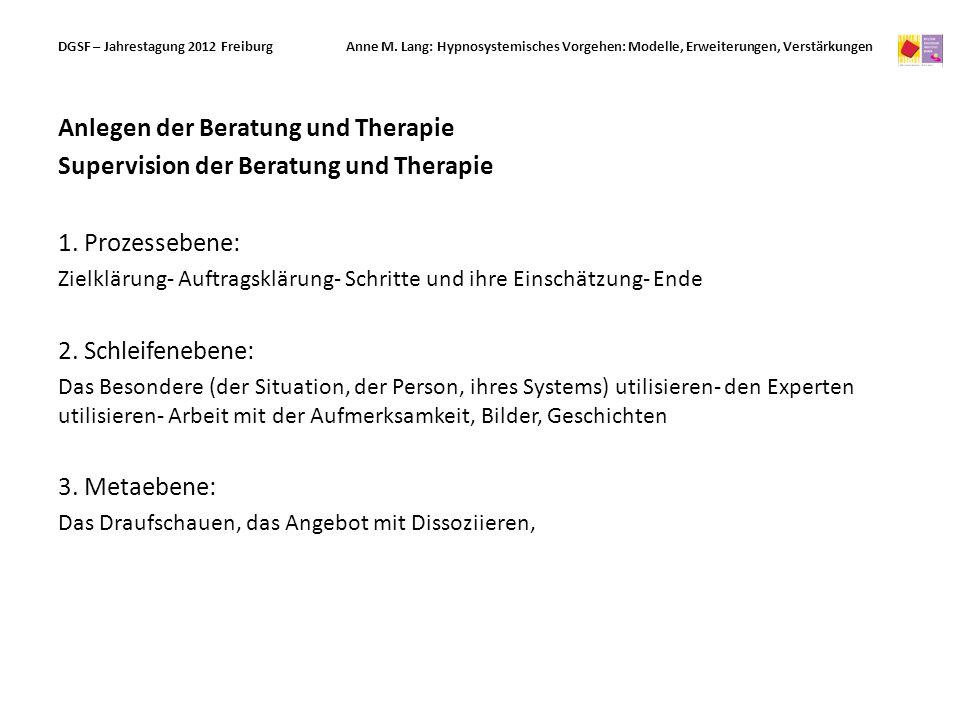 Anlegen der Beratung und Therapie
