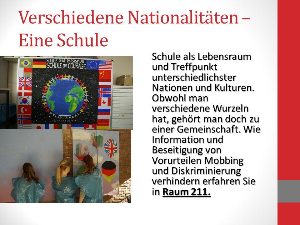 Verschiedene Nationalitäten – Eine Schule