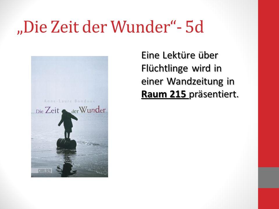"""""""Die Zeit der Wunder - 5d"""