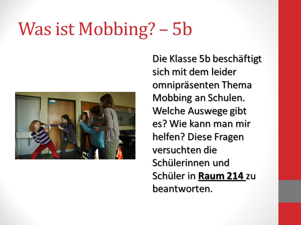 Was ist Mobbing – 5b