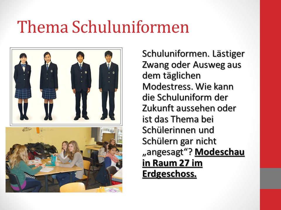Thema Schuluniformen