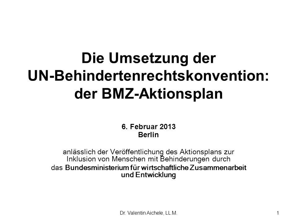 Die Umsetzung der UN-Behindertenrechtskonvention: der BMZ-Aktionsplan