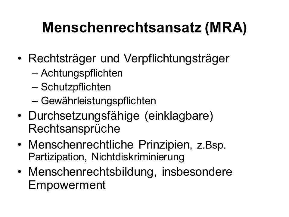 Menschenrechtsansatz (MRA)