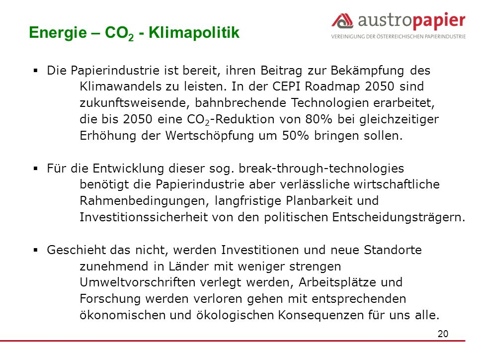 Energie – CO2 - Klimapolitik