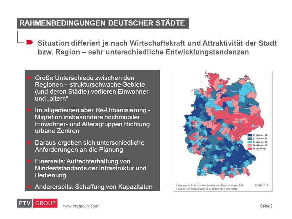 Rahmenbedingungen deutscher Städte