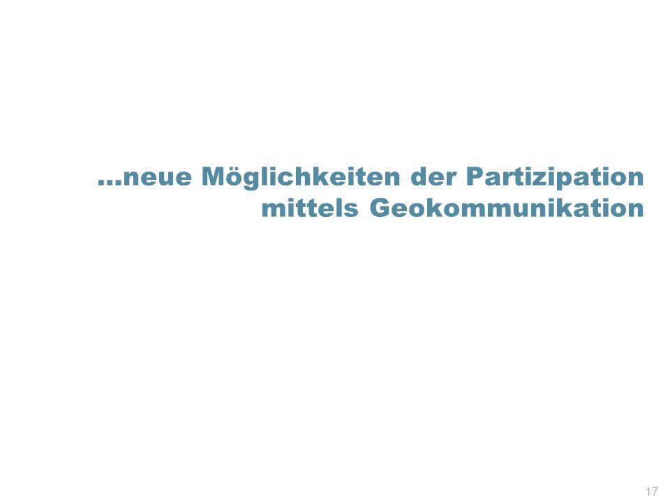 …neue Möglichkeiten der Partizipation mittels Geokommunikation