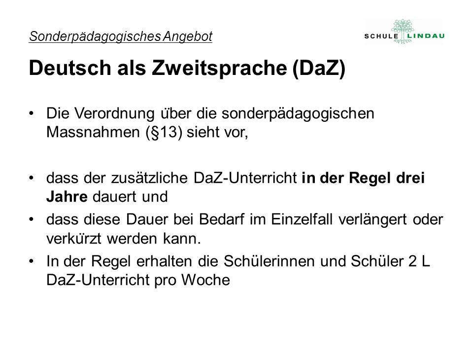 Sonderpädagogisches Angebot Deutsch als Zweitsprache (DaZ)