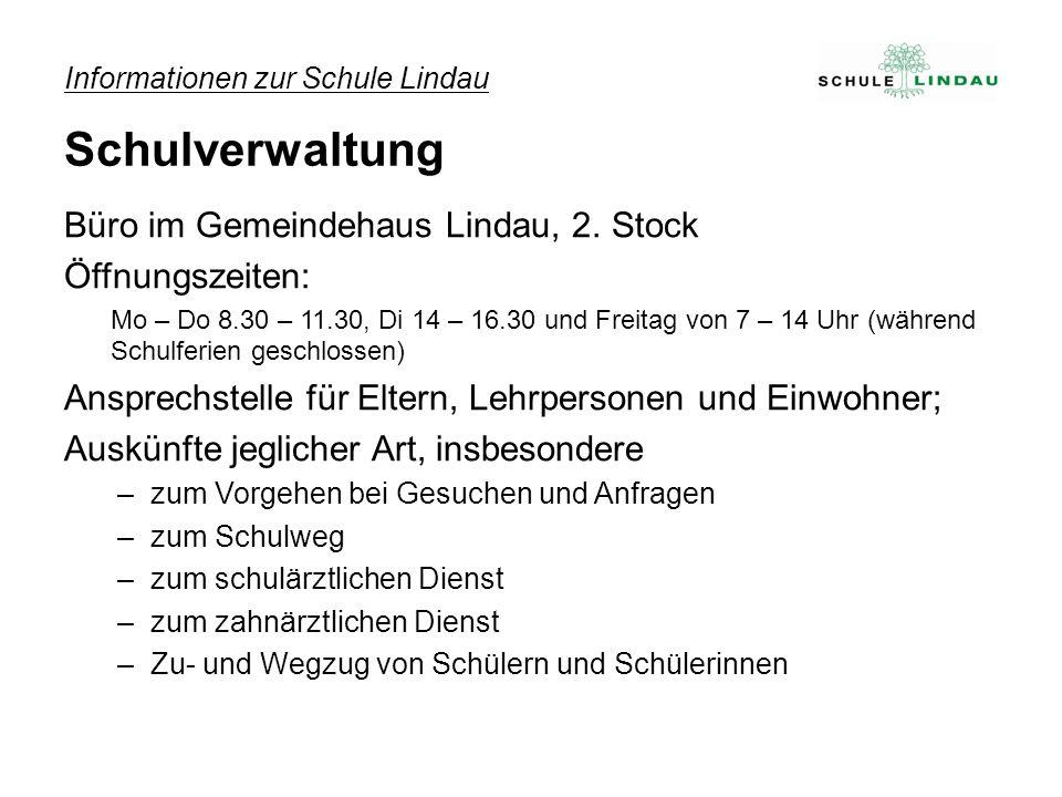 Informationen zur Schule Lindau Schulverwaltung