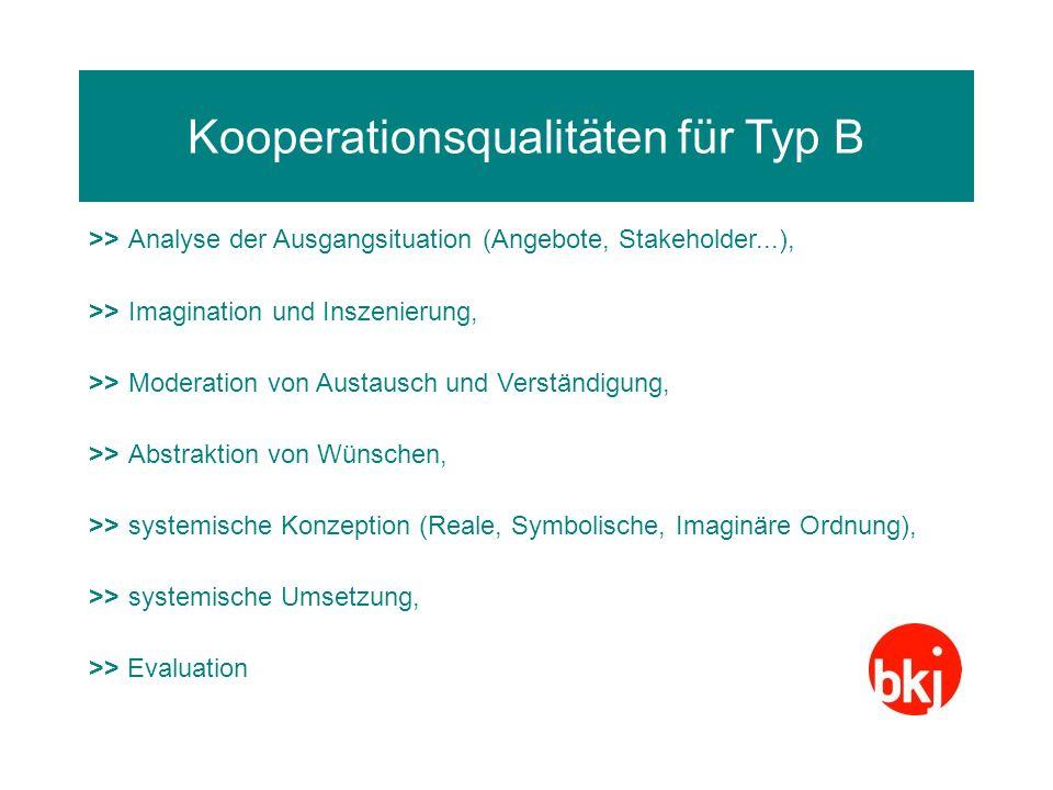 Kooperationsqualitäten für Typ B