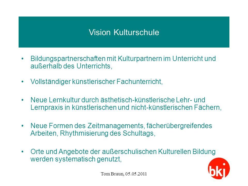 Vision Kulturschule Bildungspartnerschaften mit Kulturpartnern im Unterricht und außerhalb des Unterrichts,
