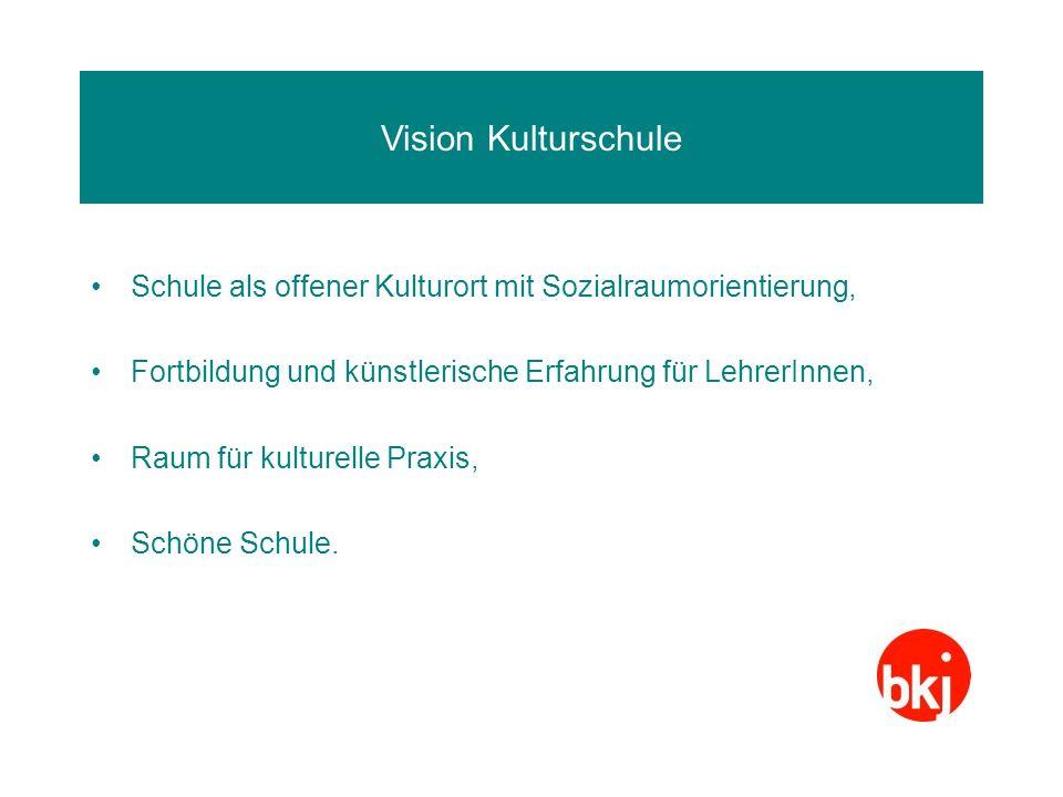 Vision Kulturschule Schule als offener Kulturort mit Sozialraumorientierung, Fortbildung und künstlerische Erfahrung für LehrerInnen,