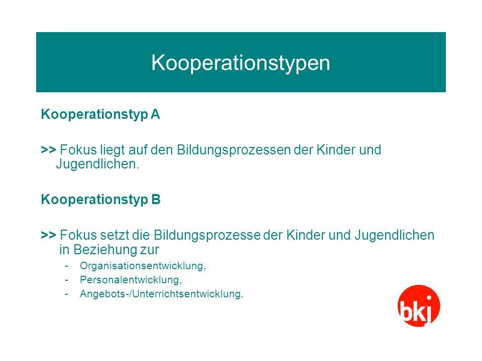 Kooperationstypen Kooperationstyp A