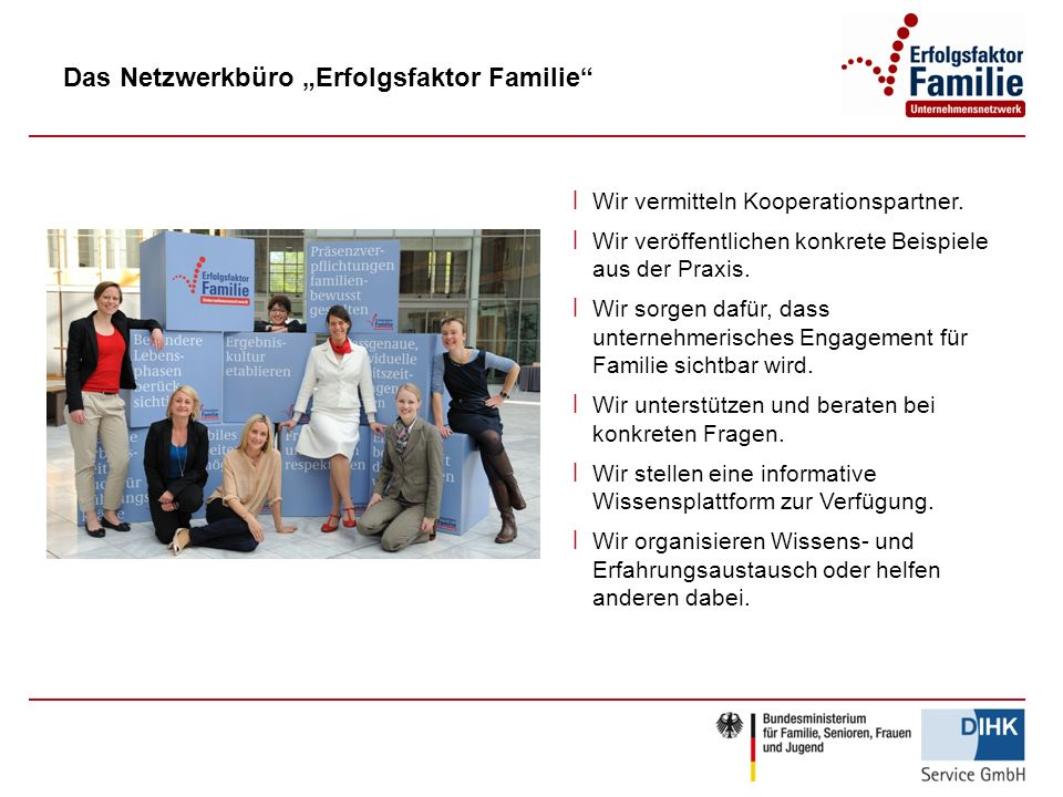 "Das Netzwerkbüro ""Erfolgsfaktor Familie"