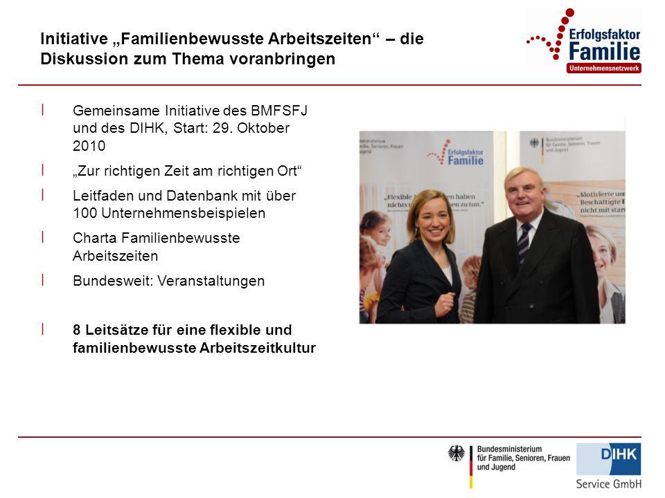 """Initiative """"Familienbewusste Arbeitszeiten – die Diskussion zum Thema voranbringen"""
