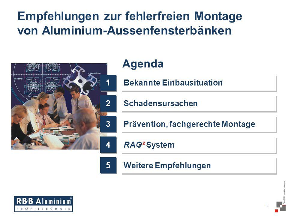 Empfehlungen zur fehlerfreien Montage von Aluminium-Aussenfensterbänken